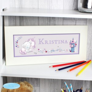Personalised Tiny Tatty Teddy Unicorn Name Frame