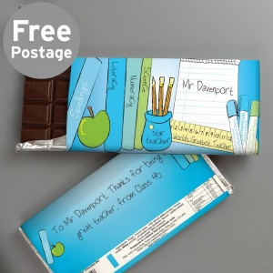 Personalised Teachers Male Milk Chocolate Bar
