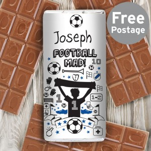 Personalised Football Milk Chocolate Bar