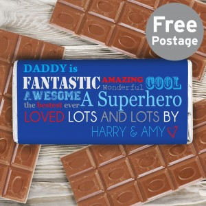 Personalised He Is Milk Chocolate Bar