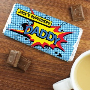 Personalised Super Hero Comic Book Chocolate Bar