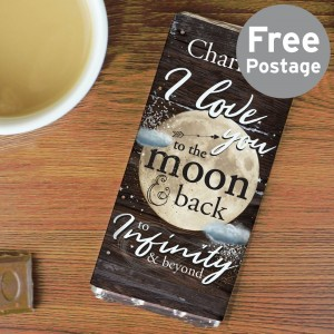 Personalised To the Moon & Infinity... Milk Chocolate Bar