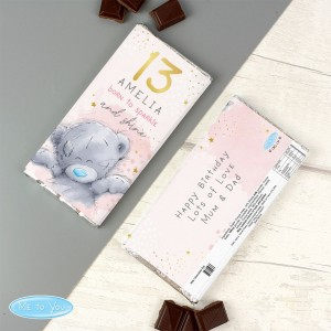 Personalised Me To You Sparkle & Shine Birthday Milk Chocolate Bar