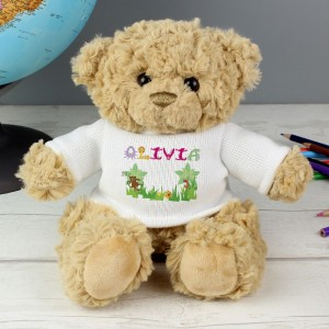 Personalised Pink Animal Alphabet Message Bear