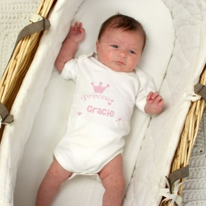Personalised Princess Baby Vest
