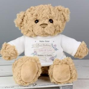 Personalised Garden Bloom Message Teddy Bear
