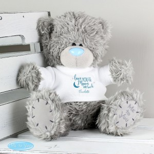 "Personalised Me to You Bear ""To the Moon and Back'"