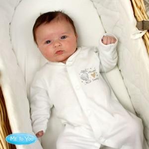Personalised Tiny Tatty Teddy I Heart 0-3 Months Babygrow