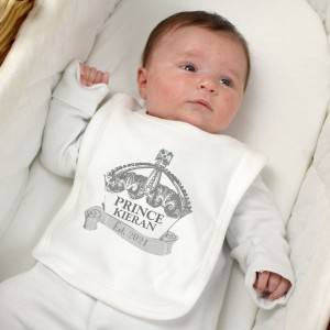 Personalised Royal Crown Bib