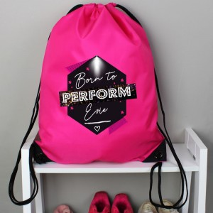 "Personalised ""Born to Perform"" Pink Kit Bag"