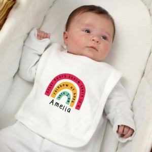 Personalised Rainbow Bib