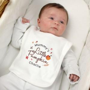 Personalised Little Pumpkin Bib