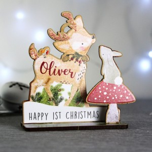 Personalised Make Your Own Festive Fawn 3D Decoration Kit