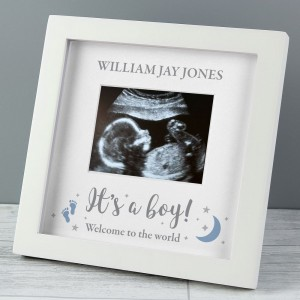 "Personalised ""It's A Boy"" Baby Scan Frame"
