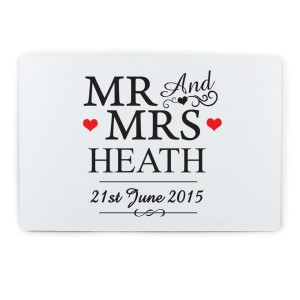 Personalised Mr & Mrs Plaque