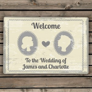 Personalised Cameo Metal Sign