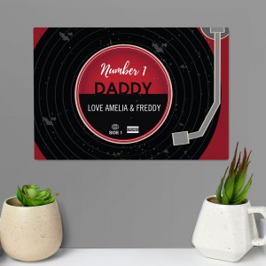 Personalised Vintage Record Metal Sign