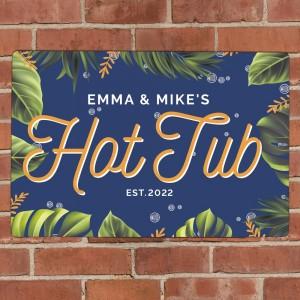 Personalised Hot Tub Metal Sign