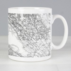 Personalised 1805 - 1874 Old Series Map Mug