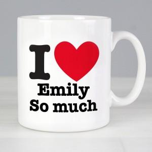 Personalised I HEART Mug