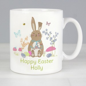 Personalised Easter Meadow Bunny Mug