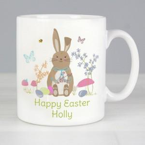 Personalised Easter Meadow Bunny Mug