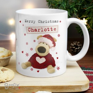 Personalised Boofle Christmas Love Mug