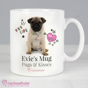Personalised Rachael Hale Doodle Pug Mug