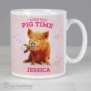 "Personalised Rachael Hale ""I Love You Pig Time"" Mug"