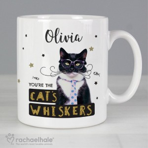 "Personalised Rachael Hale ""You're the Cat's Whiskers"" Mug"