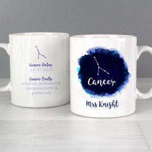 Personalised Cancer Zodiac Star Sign Mug (June 21st - July 22nd)