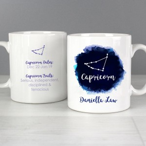 Personalised Capricorn Zodiac Star Sign Mug (December 22nd - 19th January)