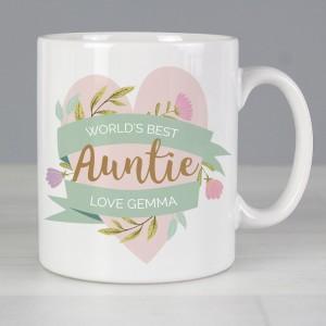 Personalised Floral Heart Mug