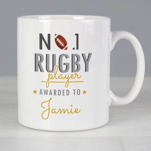 Personalised No.1 Rugby Player Mug