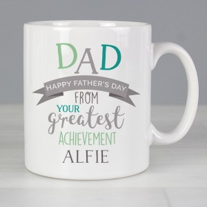"Personalised ""Dad's Greatest Achievement"" Mug"