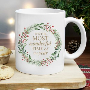 "Personalised ""Wonderful Time of The Year"" Christmas Mug"