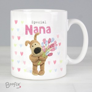 Personalised Boofle Birthday Flowers Mug