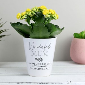Personalised Free Text Plant Pot
