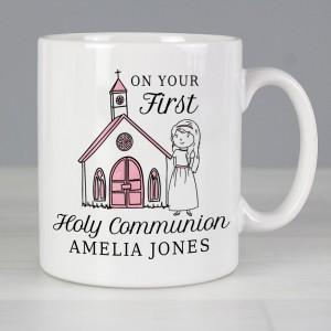 Personalised Girls First Holy Communion Mug