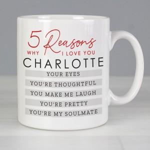 Personalised 5 Reasons Why Mug