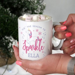 Personalised Unicorn Season To Sparkle Mug