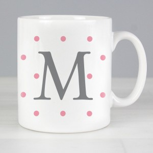 Personalised Monogram Gold Spot Slim Mug