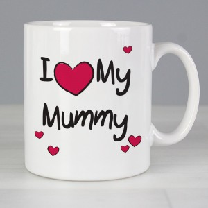 "Personalised ""I Heart My..."" Slim Mug"