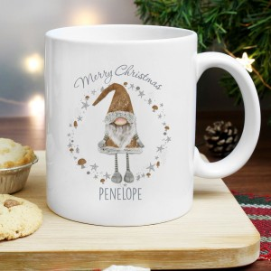 Personalised Scandinavian Christmas Gnome Mug