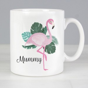Personalised Flamingo Slim Mug