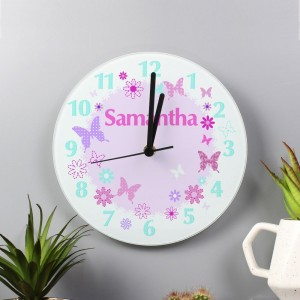 Personalised Butterfly Clock