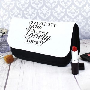 Personalised Look Lovely Make Up Bag