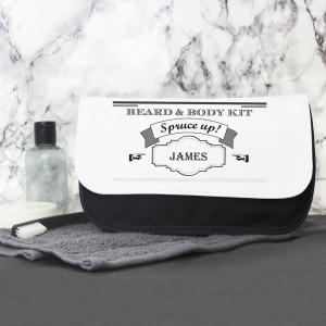 Personalised Spruce Up Men's Wash Bag