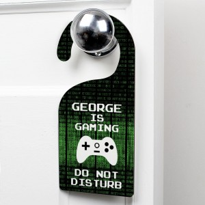 Personalised Gaming Door Hanger