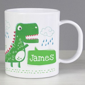 """Personalised """"Be Roarsome"""" Dinosaur Plastic Mug"""
